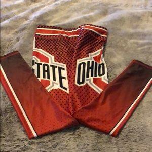 Ohio State yoga pants